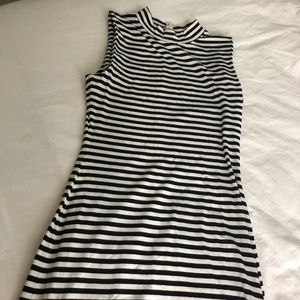 French Connection Black & White Dress Sz 6